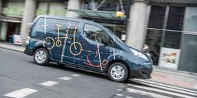 Nissan Unveils All-Electric Mobile Office in UK
