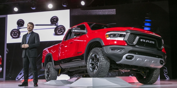Mike Manley, Head of Ram Brand – FCA Global, introduces the all-new 2019 Ram 1500 at the truck's...