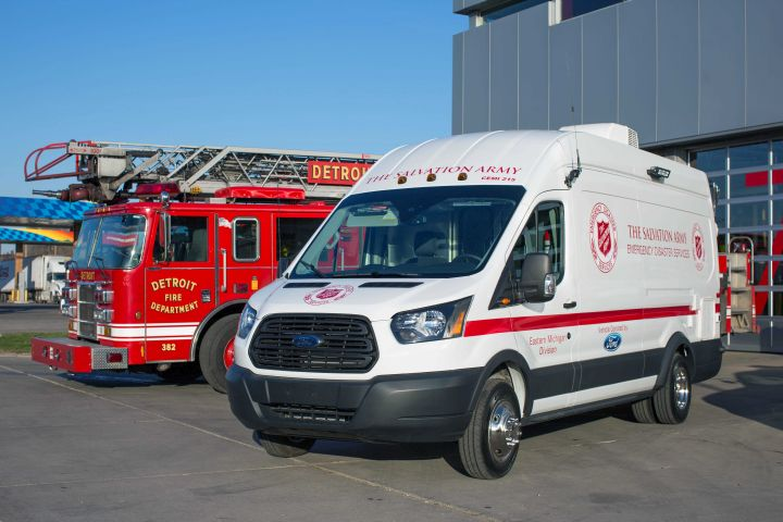 Ford Donates Custom Transit to Salvation Army
