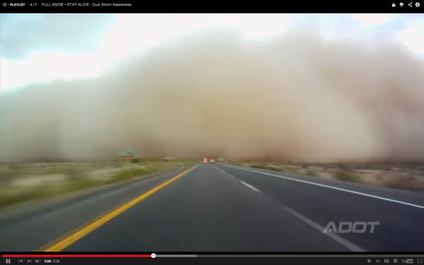 Fleet Safety Video Tip: Surviving a Highway Dust Storm