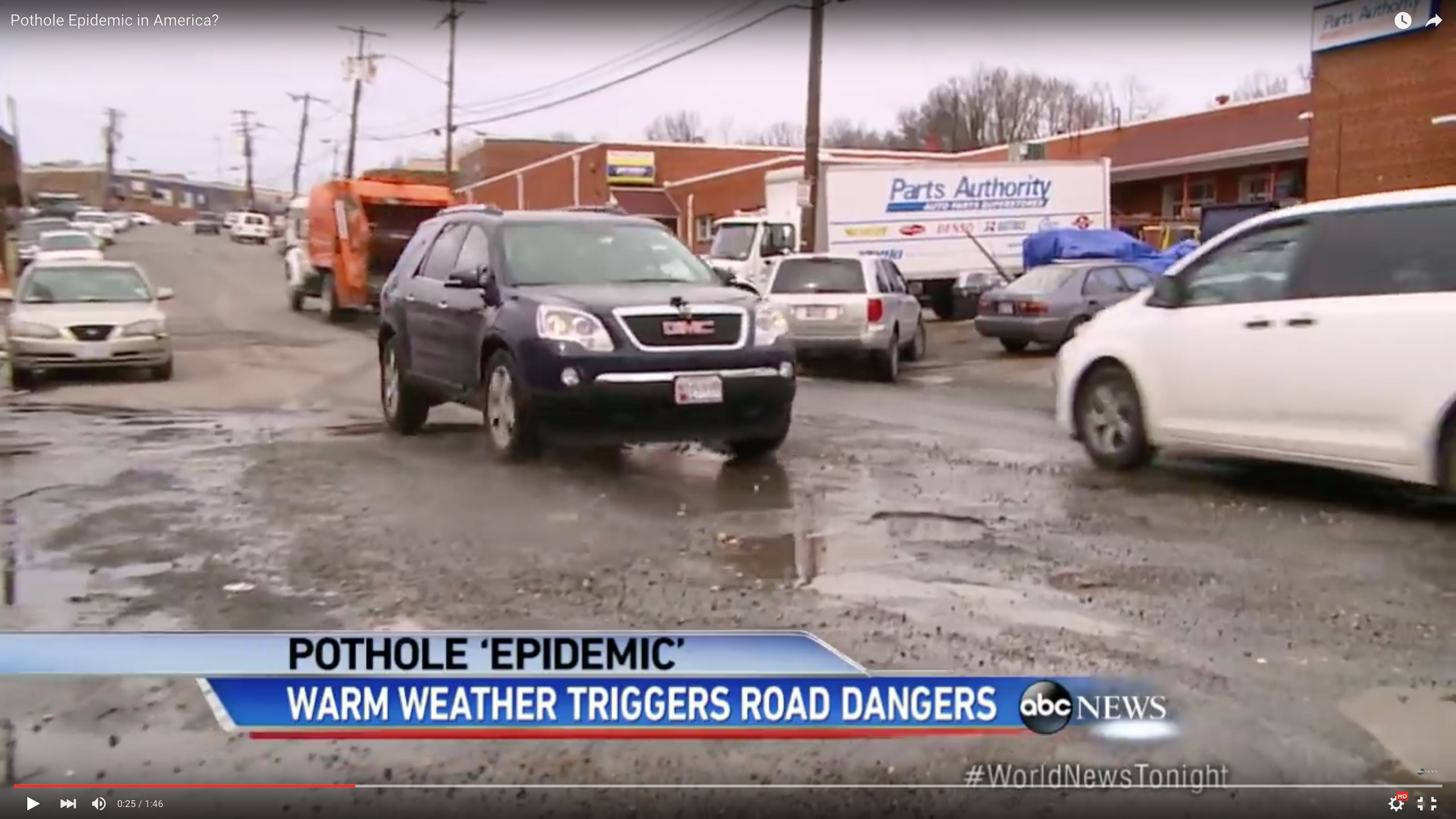Video Safety Tip: Preventing Pothole Damage