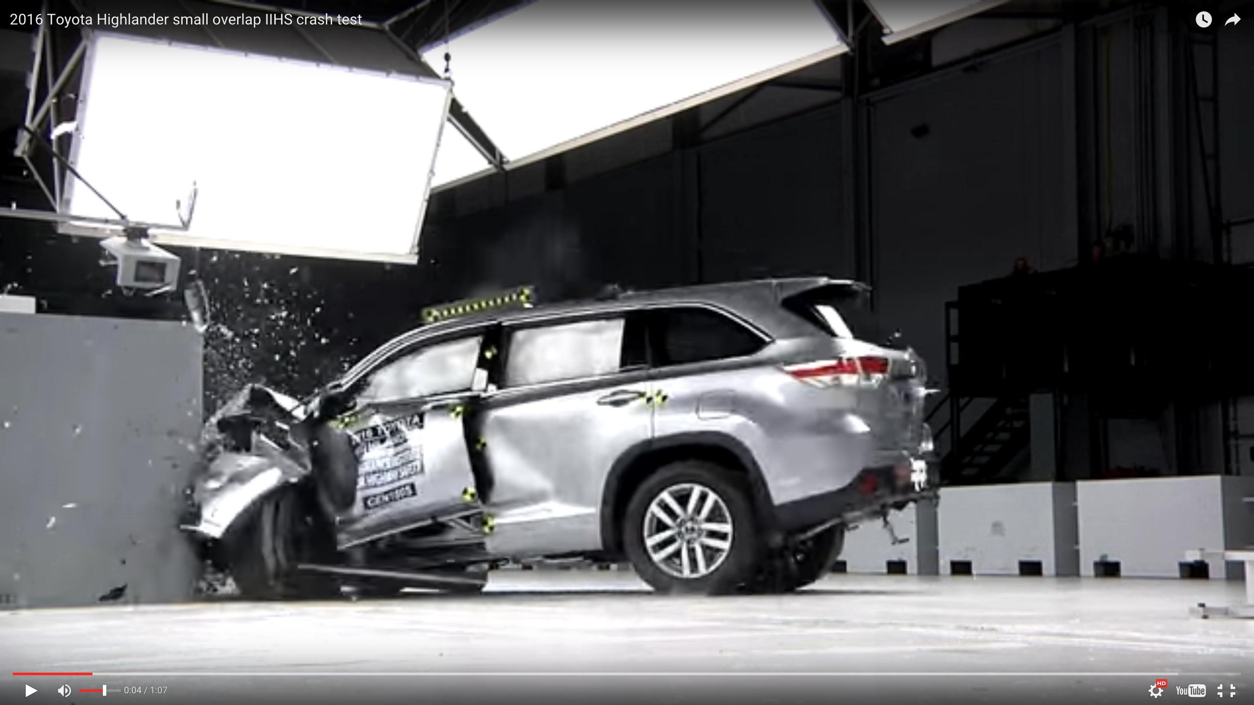 Video: Toyota Highlander Captures Top Safety Award