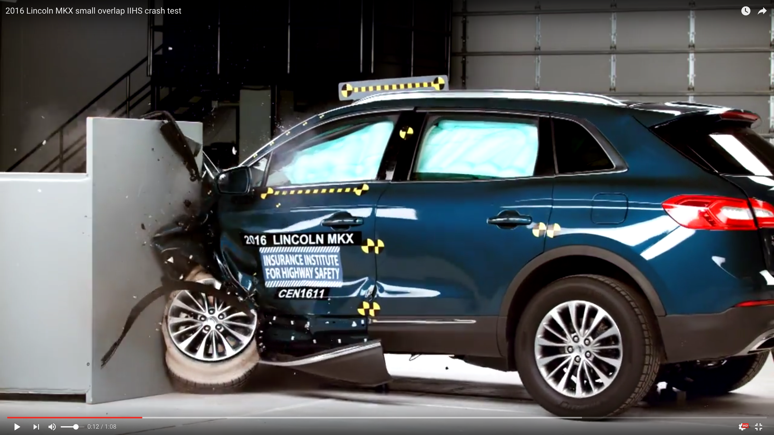 Video: Lincoln MKX Named Top Safety Pick+