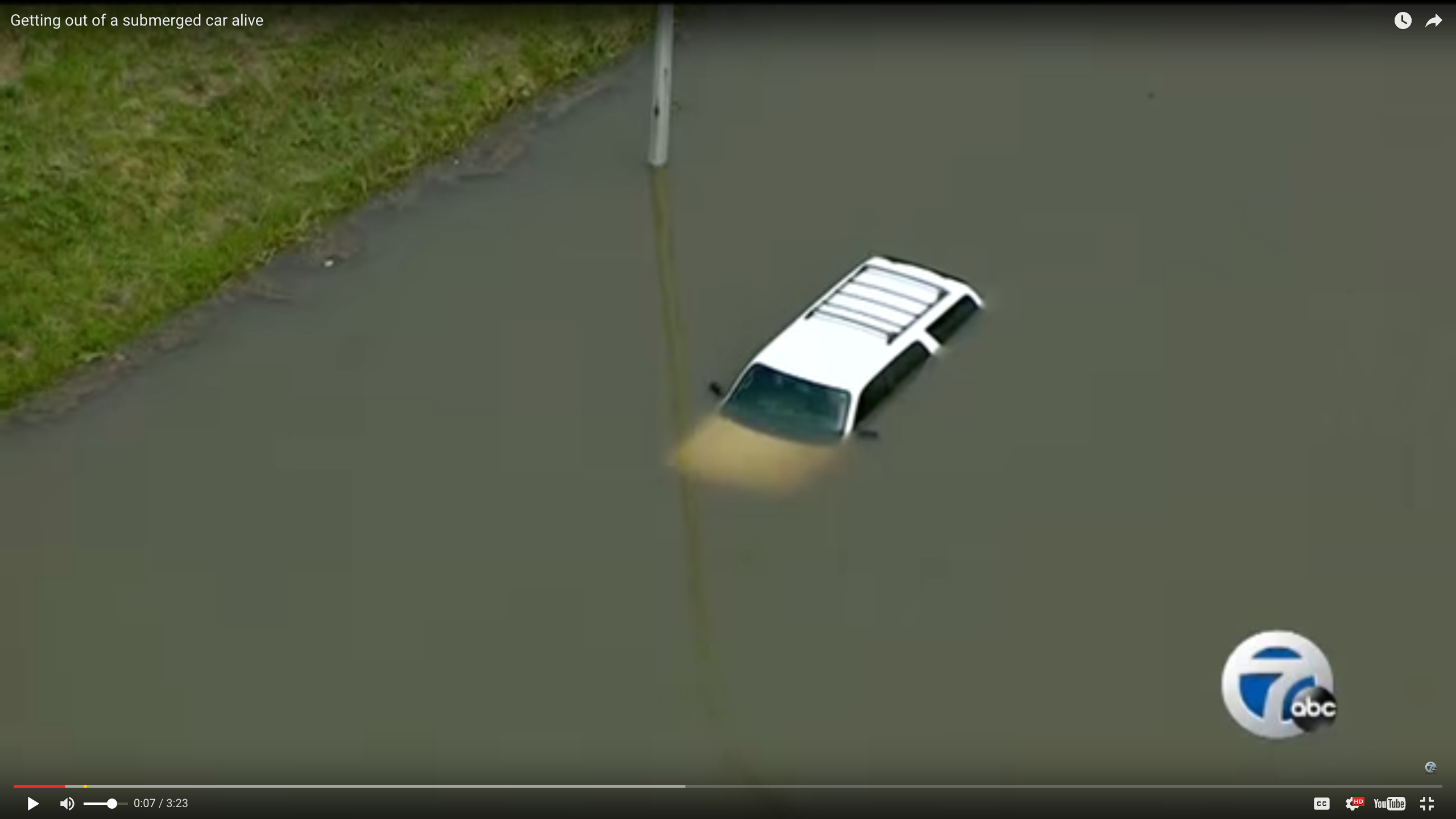 Video Safety Tip: Escaping a Submerged Vehicle