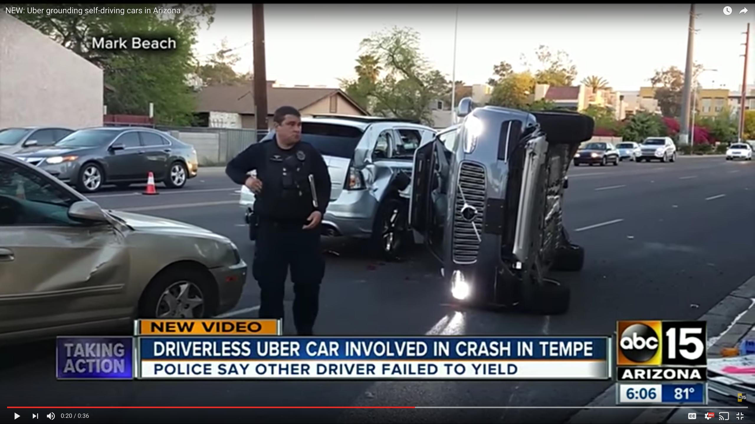 Uber Suspends Self-Driving Fleet After Ariz. Crash