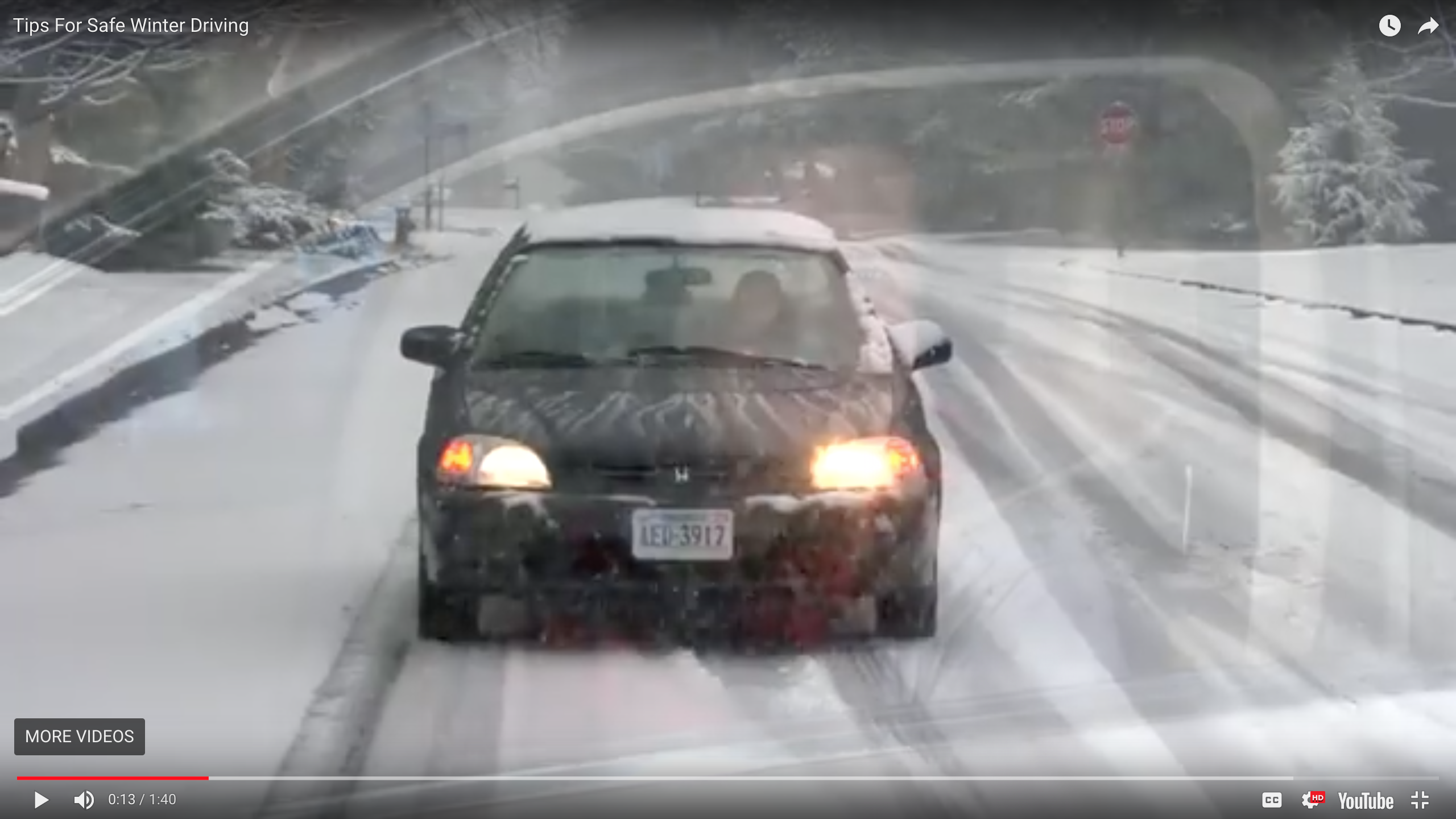 Video Safety Tip: Driving in Snow
