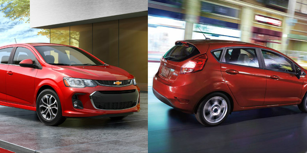 Photos of 2018 Chevrolet Sonic and Fiesta courtesy of GM and Ford.