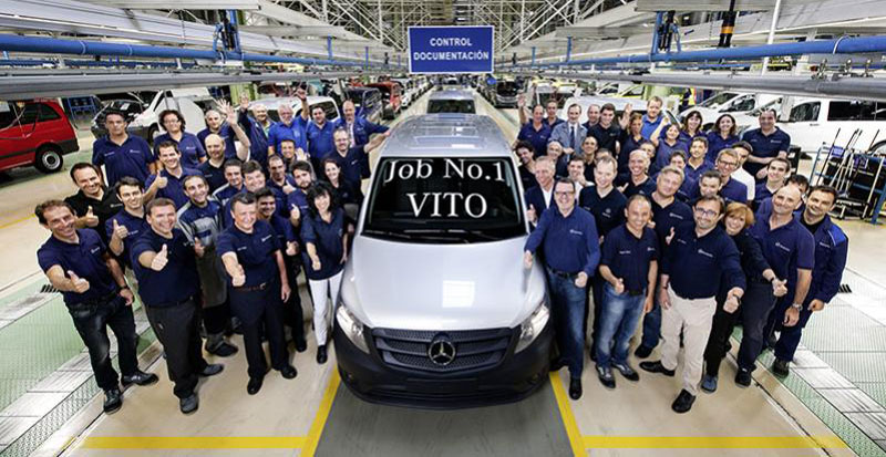First Mercedes-Benz Vito Built in Spain