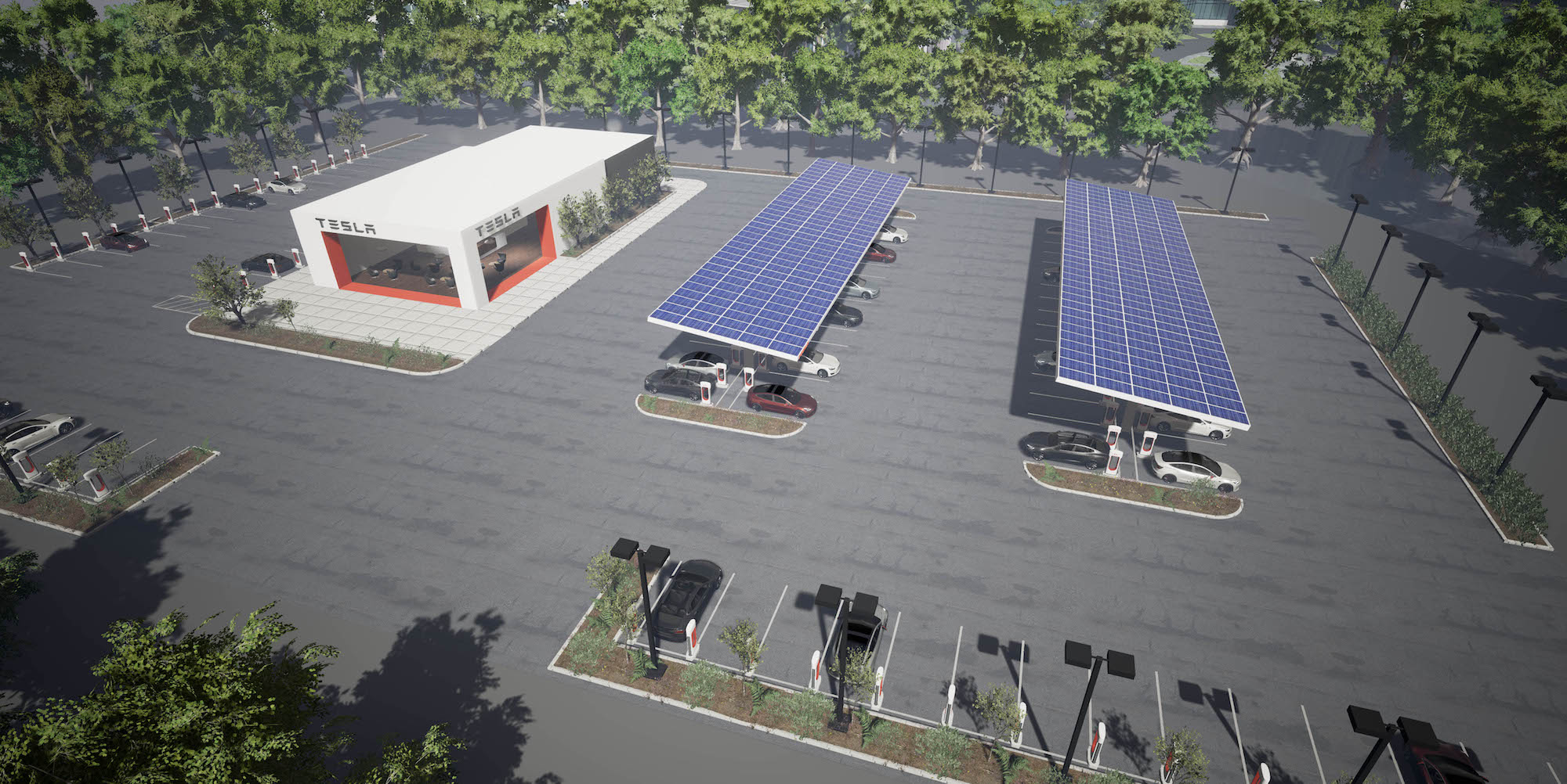 Tesla Aggressively Expanding EV Charging Network