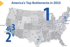 Highway Users Rank America's Worst 50 Traffic Bottlenecks