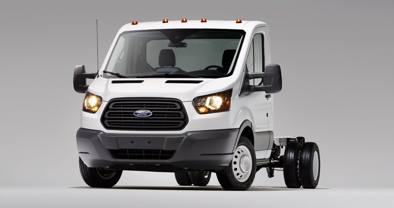 Ford Reveals Transit Van Chassis Cab and Cutaway Models