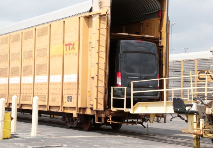 Rail Industry Modified Cars to Ship Ford Transit