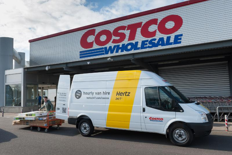Costco Offers Hertz Van Rentals in UK
