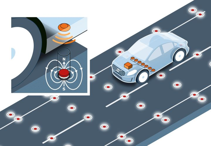 Volvo Tests Road Magnets for Self-Driving Cars