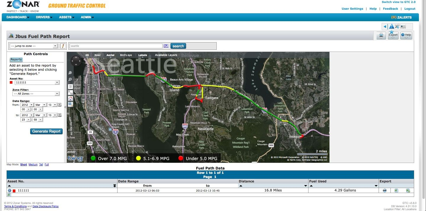 Zonar Releases Fuel-Based GPS Tracking Technology