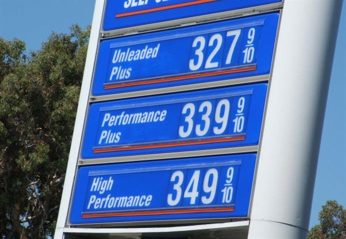 Gasoline Flat at $2.22 Per Gallon