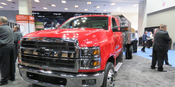 The Class 6 Chevy Silverado 6500HD chassis cab is powered by a standard Duramax 6.6L...
