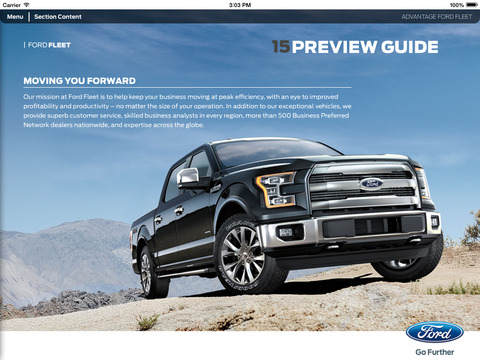 Find Ford Specs, Tour Photos in Ford Fleet App
