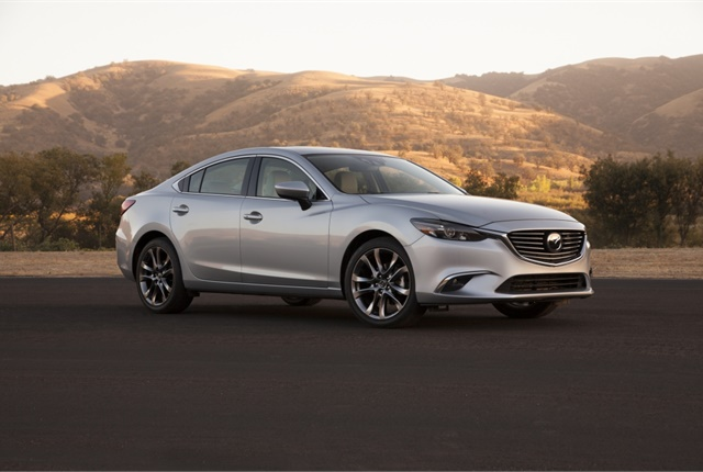 Photo of Mazda6 sedan courtesy of Mazda.
