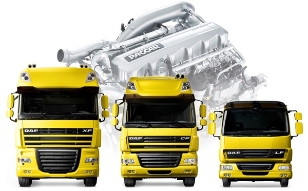 PACCAR recently launched production of (from l-r) DAF XF, CF and LF Trucks Powered by PACCAR Engines for the Brazilian market.