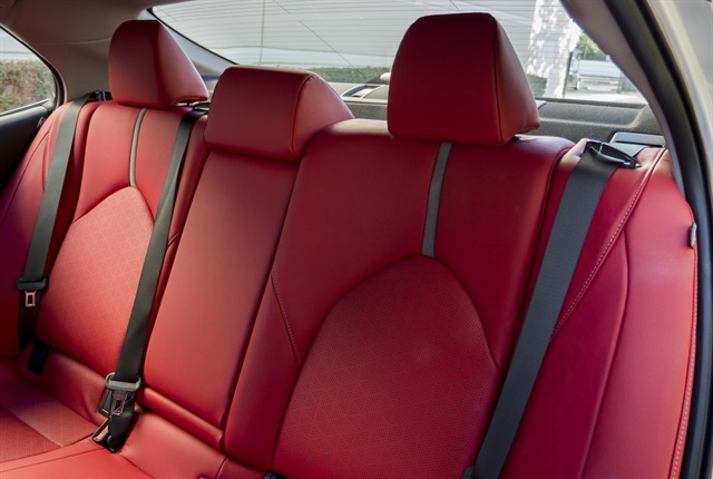 Photo of 2018 Toyota Camry rear seat by Vince Taroc.