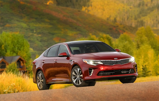 The 2016 Kia Optima, photo courtesy of the automaker.