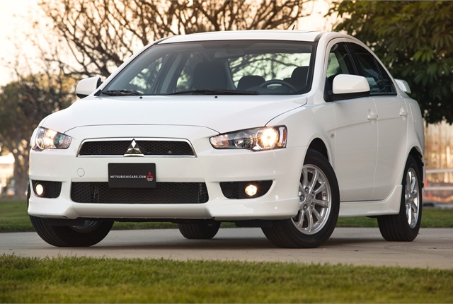 Photo of Lancer courtesy of Mitsubishi.