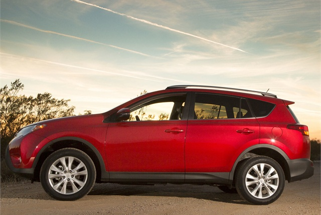 A new technology package offered on the 2014 Toyota RAV4 Limited includes a Blind Spot Monitor with Rear Cross Traffic Alert, Lane Departure Alert and Auto High Beam.