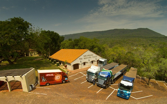 Daimler Trucks vehicles for the Southern African Region: FUSO Canter Lift, Mercedes-Benz Actros 2254, and Freightliner Argosy. Photo: Daimler Trucks