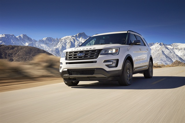 The 2017 Ford Explorer equipped with the XLT Sport Appearance package, photo courtesy of the automaker.