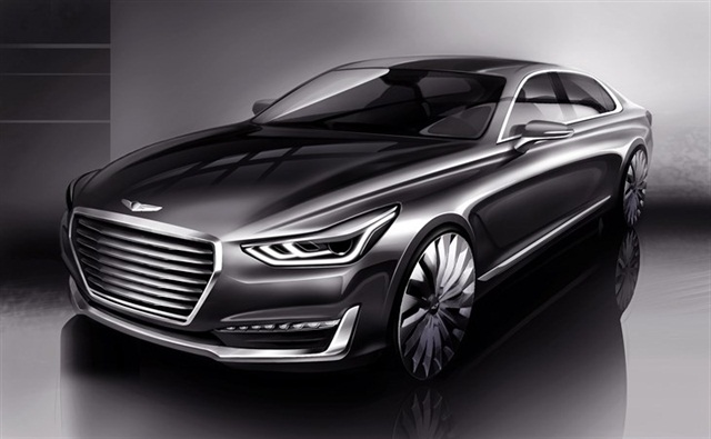 Rendering of the Genesis G90 courtesy of Hyundai.