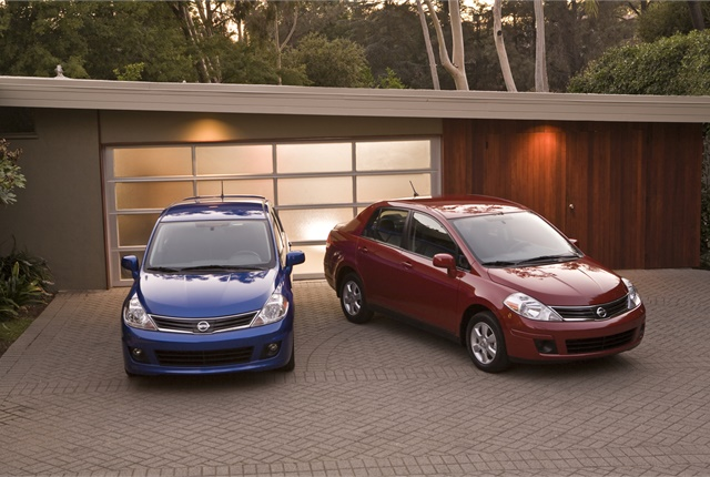 Photo of Nissan Versa cars courtesy of Nissan.