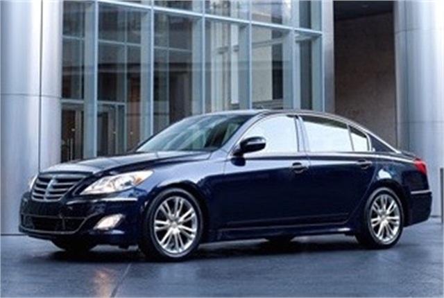 Photo of Hyundai Genesis courtesy of Hyundai.