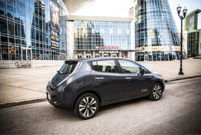 The 2013 Nissan Leaf earned the Top Safety Pick recognition level from the Insurance Institute for Highway Safety (IIHS). Photo courtesy Nissan.
