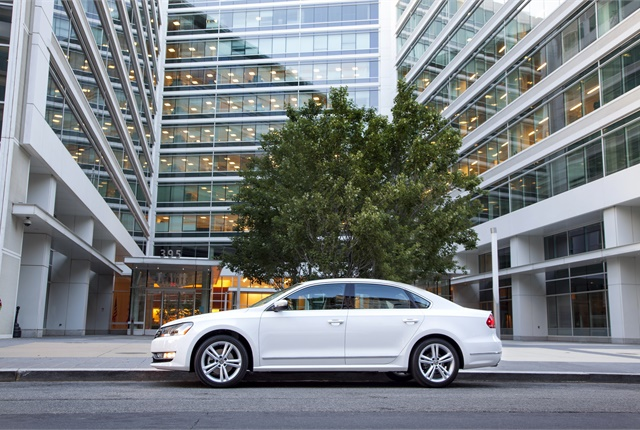 Photo of Passat courtesy of Volkswagen.