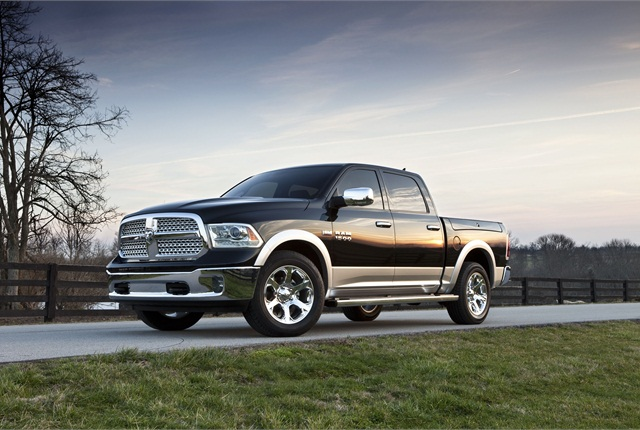 The 2013 Ram 1500. Chrysler's Ram Truck brand plans to offer a 3.0L V-6 EcoDiesel engine on the 2014-MY version of the Ram 1500. Photo courtesy Chrysler.