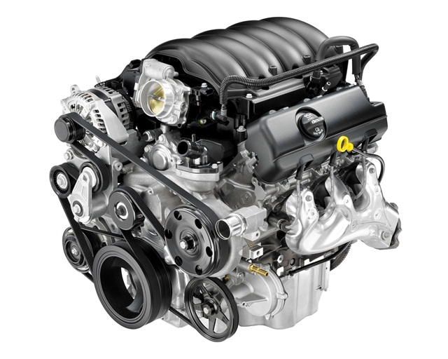 The 2014 GMC Sierra comes standard with a 4.3L EcoTec V-6, which gets 305 lb.-ft. of torque and 285 hp.