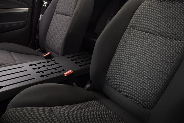 GM said its engineers sculpted the front seats in the 2014 Caprice to better accomodate officers' duty belts. They also made the seats wider. Photo courtesy GM.