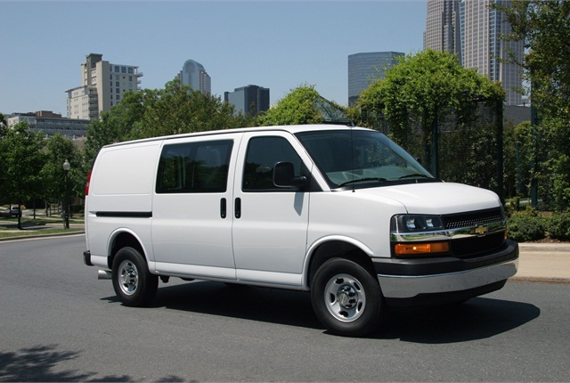 970bc8f358 GM Adds Five-Passenger Cargo Van Model to 2014 Chevrolet Express ...