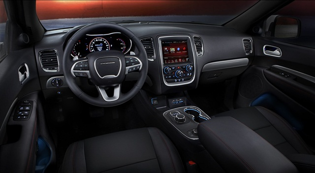 For the two touchscreen options, a new 5-inch touchscreen is standard on SXT models and the 8.4-inch UConnect touchscreen is standard on Limited, R/T, and Citadel models. Photo courtesy Chrysler Group.