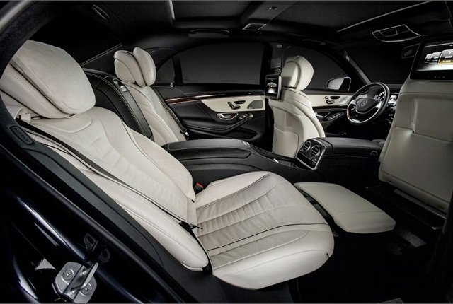 The rear seats can recline from an angle of 37 degrees up to 43.5 degrees. Photo courtesy Mercedes-Benz.