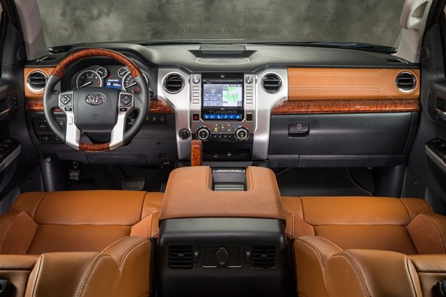 Toyota updated the Tundra's interior for MY-2014. Photo courtesy Toyota.