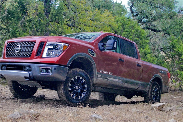 Photo of the 2016 Titan XD Pro-4X courtesy of Nissan.