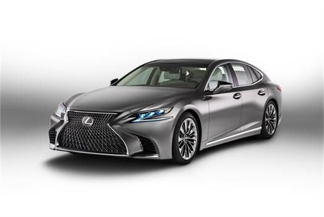 Photo of the 2018 LS 500 courtesy of Lexus.
