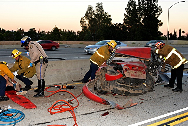 An estimated 94% of crashes are tied to human error, according to NHTSA. Photo by the Los Angeles Fire Department via Flickr.