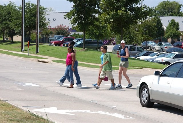 GHSA has asked its state members to share examples of strategies underway to reduce pedestrian and motor vehicle collisions. Photo courtesy of NHTSA.