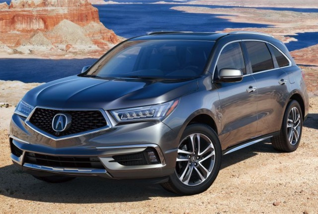 Photo of 2017-MY MDX courtesy of Acura.