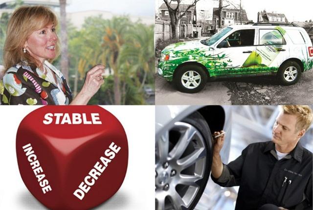 (Clockwise from top left): Kristi Webb, avoiding driver reimbursement, maintenance costs, and buying forecast