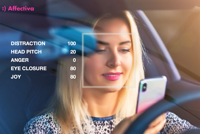 Photo of driving distraction metrics courtesy of Affectiva.