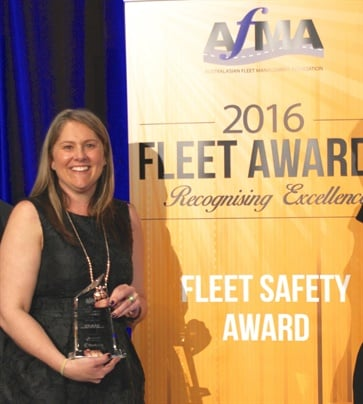 Kasey Caston of DHL Supply Chain received the Fleet Safety Award from AFMA. Photo: AfMA